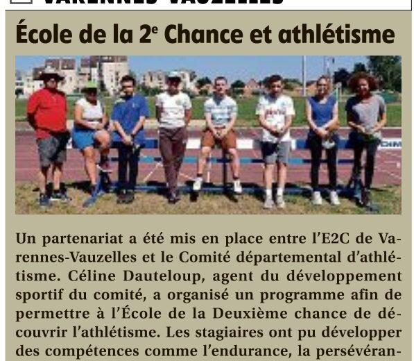 Ecole de la 2e Chance et Athlétisme